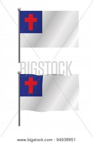 Christian Flag Illustration