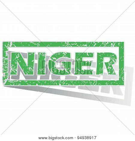 Green outlined Niger stamp