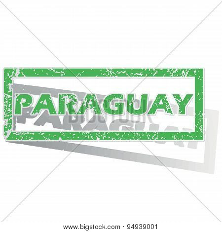 Green outlined Paraguay stamp