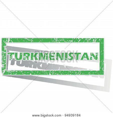 Green outlined Turkmenistan stamp