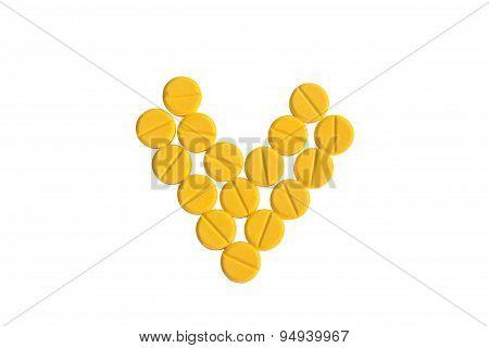 Heart Shaped Of Yellow Medicine