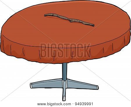 Stick On Round Table