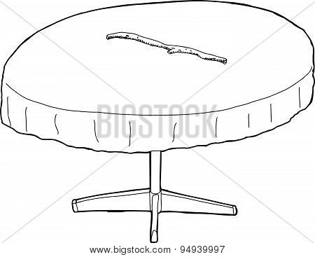 Outlined Table With Stick On Top