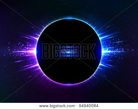 Dark blue vector shining cosmic ring
