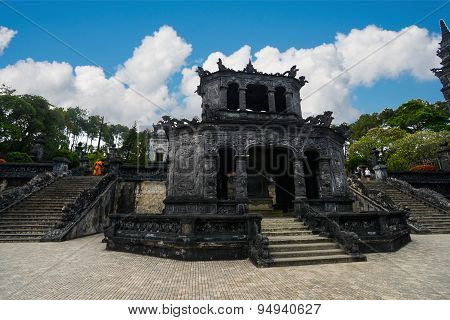Tomb of Khai Dinh emperor in Hue, Vietnam