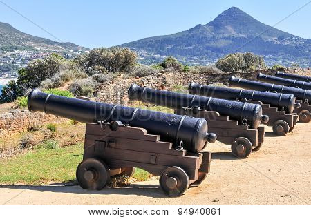 Cannons - Cape Town, South Africa Coast