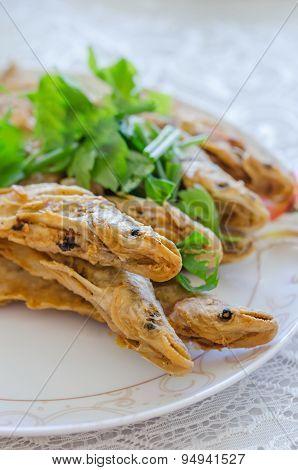 Fried Whisker Sheatfish