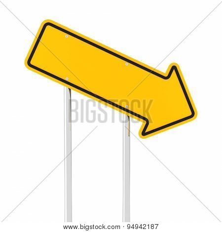 Downward arrow road sign