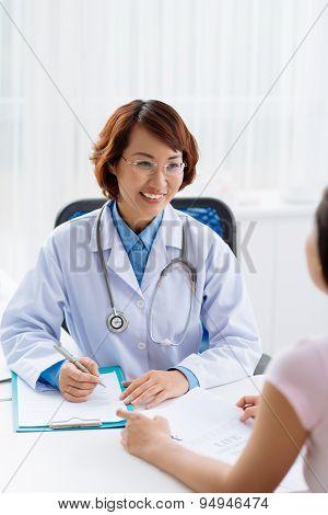 Filling Medical Report