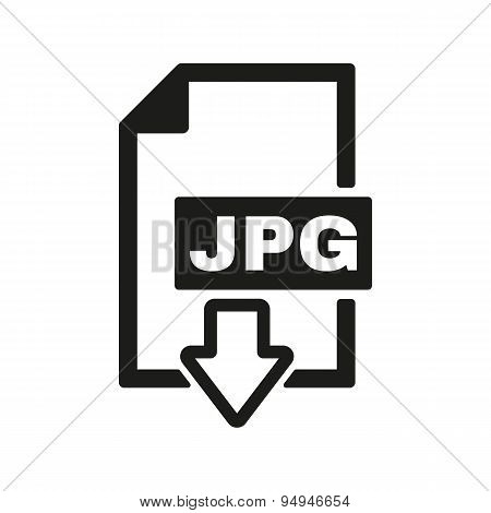 The Jpg Icon. File Format Symbol. Flat