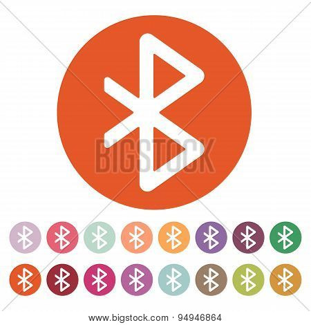 The Bluetooth Icon. Network And Transmission Symbol. Flat