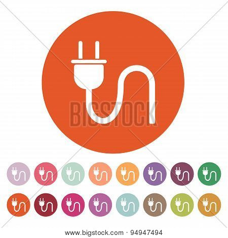 The Plug Icon. Electric Symbol. Flat