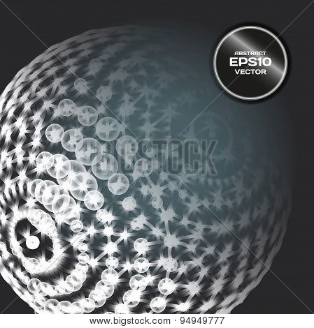 Abstract background with sphere dots and lines on theme digital