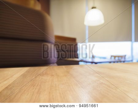 Table Top Counter Bar With Sofa Seating Light Decoration in Restaurant