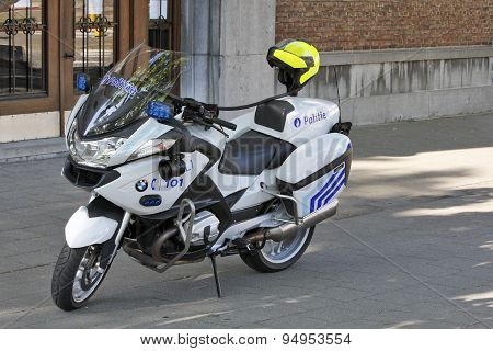 Police used BMW motorcycles in Antwerp