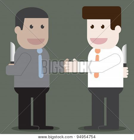 People Shake Hands In Business Unfaithful