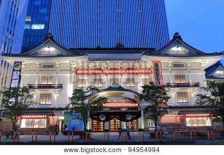 Kabukiza theater architecture Tokyo Japan