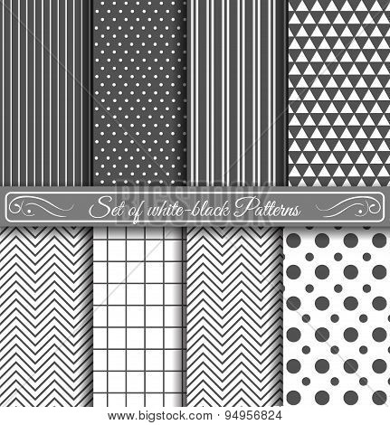 Set Of Black White Pattern