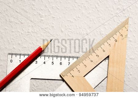 Drafting Tools On White Background