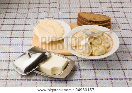 Hot Lunch About A Dumplings