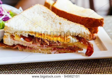 Close Up Of Club Sandwich