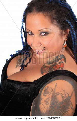 Beautiful Tattoed Pierced Woman