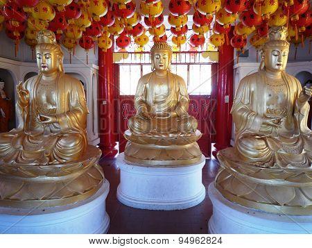 Buddha statues at Kek Lok Si Buddhist Temple