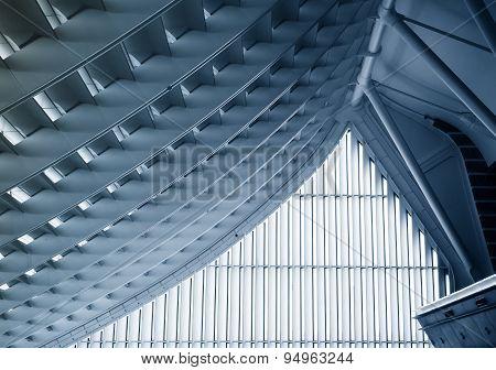 TAIPEI,TAIWAN - March,2015 :Taoyuan International Airport Roof construction details