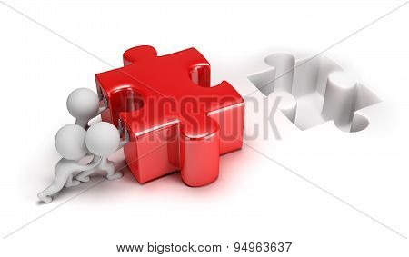 3d small people - push puzzle