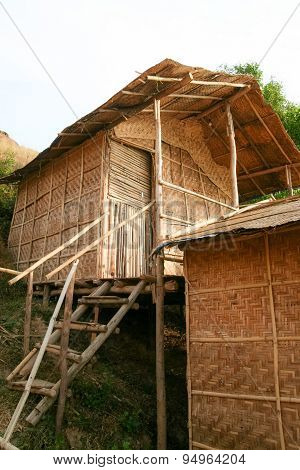 Straw hut accommodation in goa india