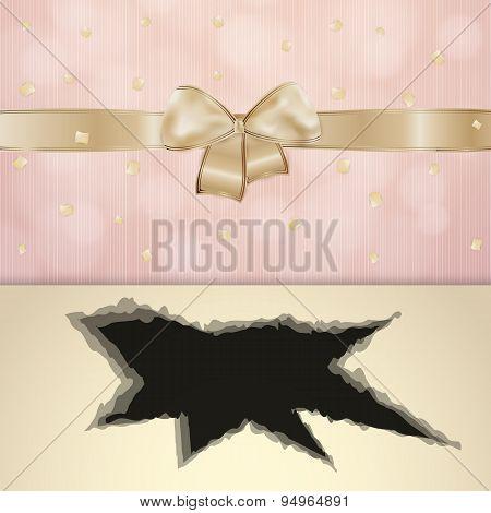 Invitation Card With Black Hole