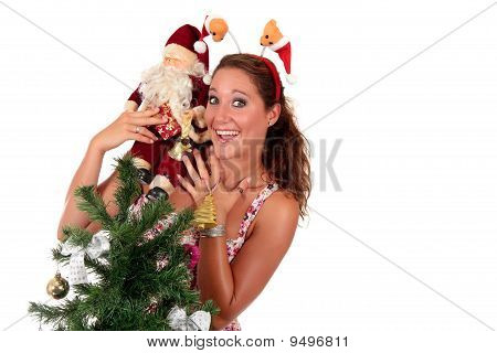 Santa Claus, joven feliz