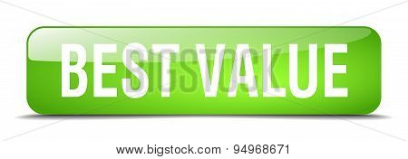 Best Value Green Square 3D Realistic Isolated Web Button