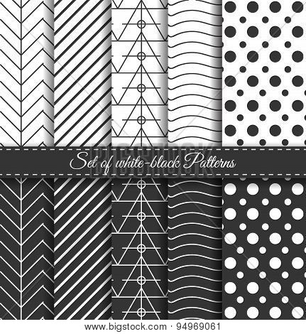 Set Of Black White Pattern3