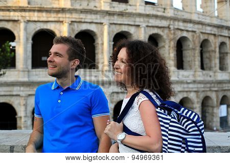 Young couple in Italy
