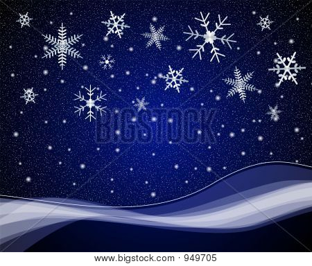 Winter Night Scene