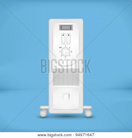 White coastal electric heater