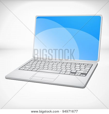 3d rendering of a laptop