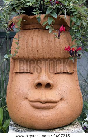 Jardiniere Pot Face Smile