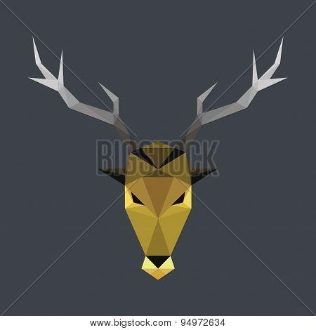 Polygonal Stag Head