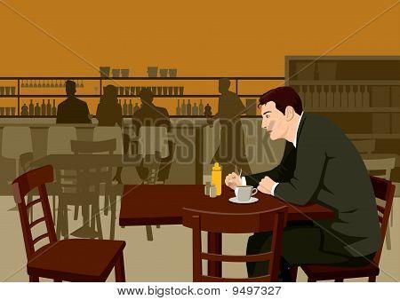 Waiting At Cafe