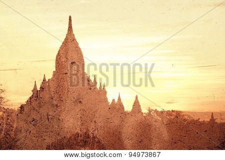 Abstract Image Of Pagoda  In Bagan Ancient City