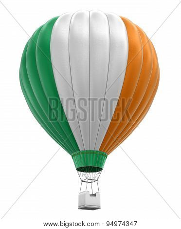 Hot Air Balloon with Irish Flag (clipping path included)