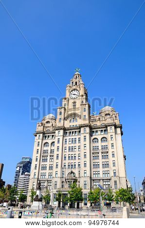 The Liver Building, Liverpool.