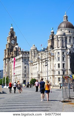 The Three Graces, Liverpool.