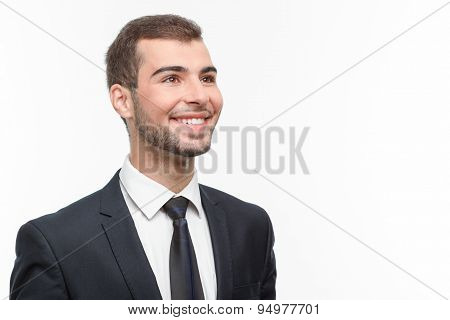 Handsome guy isolated on white