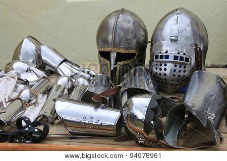 historic iron armor closeup
