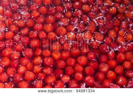 Cooking Cherry Jam