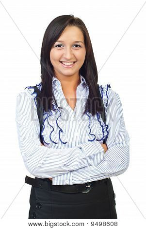 Smiling Young Businesswoman