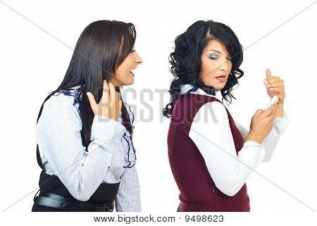 Woman Tries To Spy Her Friend
